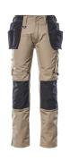 17631-442-0618 Pantalon avec poches flottantes - Blanc/Anthracite foncé