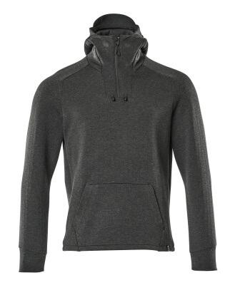 17684-319-09 Sweat capuche demi-zippé - Noir