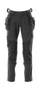 18031-311-09 Pantalon avec poches genouillères et poches flottantes - Noir