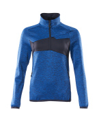 18053-316-010 Fleecepullover mit kurzer Reißverschluss - Schwarzblau