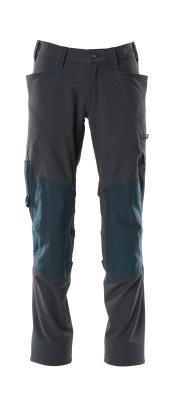 18079-511-010 Pantalon avec poches genouillères - Marine foncé