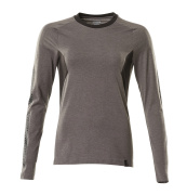 18391-959-1809 T-shirt, manches longues - Anthracite foncé/Noir
