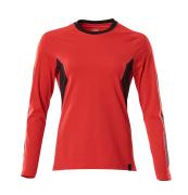 18391-959-20209 T-shirt, manches longues - Rouge trafic/Noir