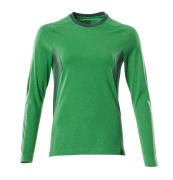 18391-959-33303 T-shirt, manches longues - vert gazon/vert bouteille