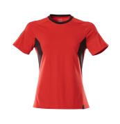 18392-959-20209 T-shirt - Rouge trafic/Noir