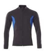 18484-962-01091 Sweatshirt zippé - Marine foncé/Bleu olympien