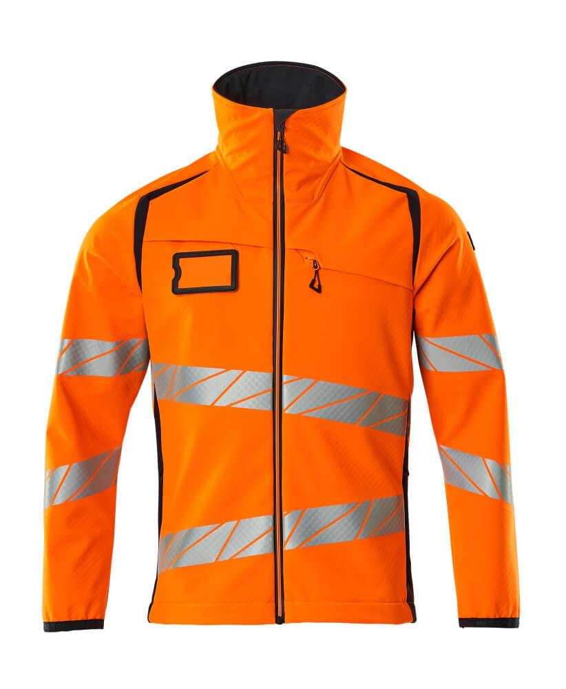 19002-143-14010 Soft Shell Jacke - hi-vis Orange/Schwarzblau