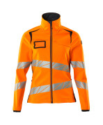 19012-143-14010 Veste softshell - Hi-vis orange/Marine foncé