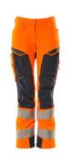 19078-511-14010 Pantalon avec poches genouillères - Hi-vis orange/Marine foncé
