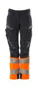 19178-511-01014 Pantalon avec poches genouillères - Marine foncé/Orange