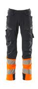 19179-511-01014 Pantalon avec poches genouillères - Marine foncé/Orange