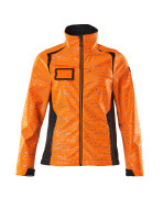 19212-291-14010 Veste softshell - Hi-vis orange/Marine foncé