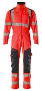 19519-236-14010 Combinaison avec poches genouillères - Hi-vis orange/Marine foncé
