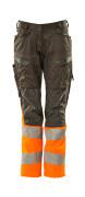 19678-236-01014 Pantalon avec poches genouillères - Marine foncé/Orange