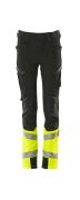 19979-311-0917 Pantalon pour enfants - Noir/Hi-vis jaune