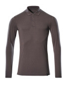 20483-961-18 Polo-Shirt, Langarm - Dunkelanthrazit