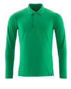 20483-961-333 Polo-Shirt, Langarm - Grasgrün