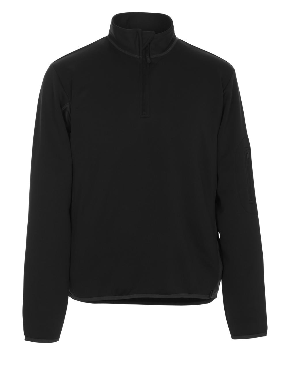 50068-828-0918 Polo-Sweatshirt - Schwarz/Dunkelanthrazit