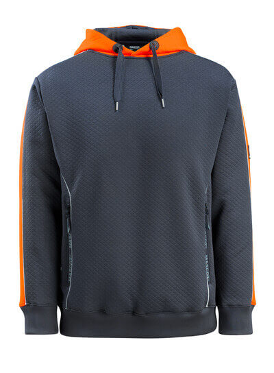 50124-932-01014 Sweat capuche - Marine foncé/Orange