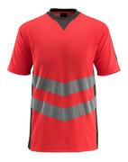 50127-933-22218 T-shirt - Hi-vis rouge/Anthracite foncé