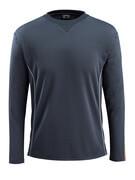 50128-933-01014 T-shirt, manches longues - Marine foncé/Orange
