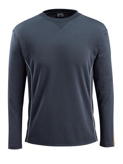 50128-933-0917 T-shirt, manches longues - Noir/Hi-vis jaune