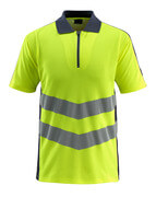 50130-933-14010 Polo-Shirt - hi-vis Orange/Schwarzblau