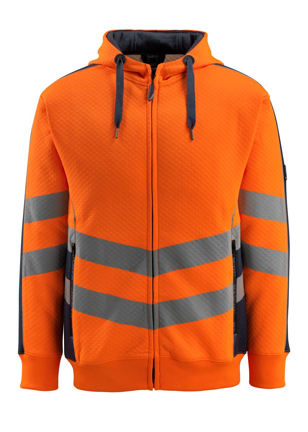 50138-932-14010 Kapuzenpullover - hi-vis Orange/Schwarzblau