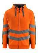 50138-932-1418 Sweat capuche zippé - Hi-vis orange/Anthracite foncé