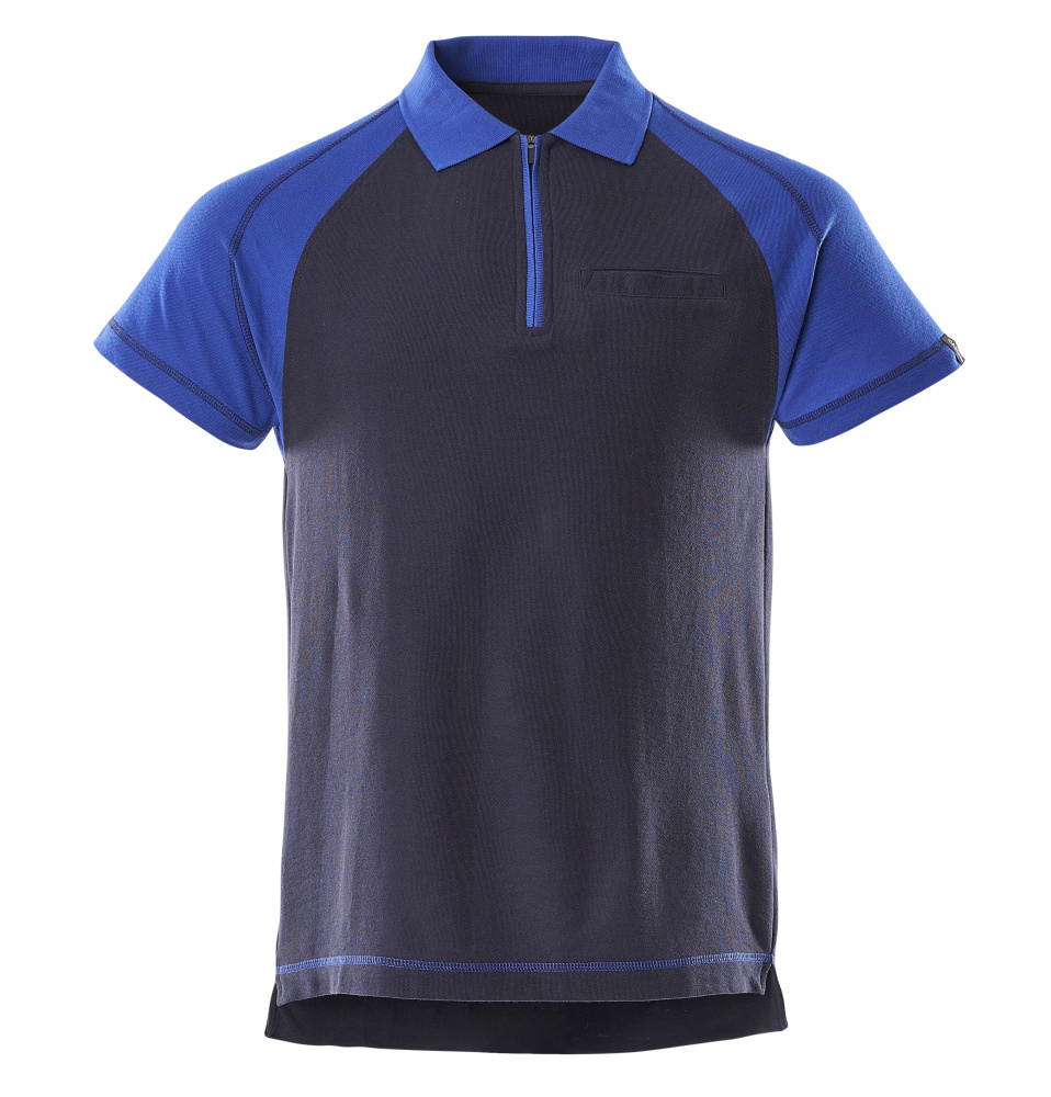 1a01afc6d389 50302-260-111 Polo-Shirt mit Brusttasche - Marine Kornblau