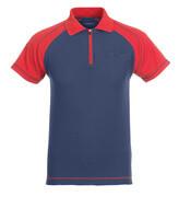 50302-260-12 Polo-Shirt mit Brusttasche - Marine/Rot