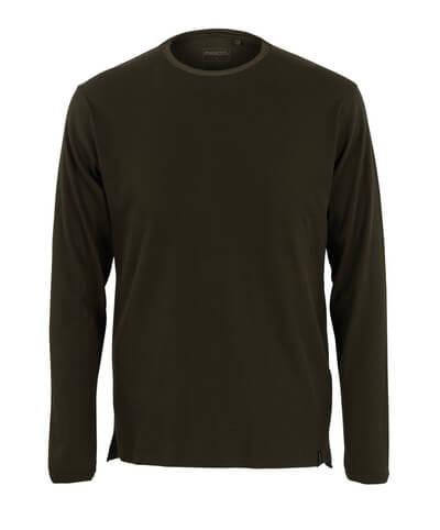 50402-865-19 Langarm T-Shirt - Dunkeloliv