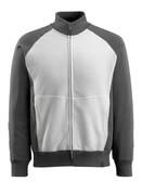 50565-963-0618 Sweatshirt zippé - Blanc/Anthracite foncé