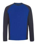 50568-959-11010 T-shirt, manches longues - Bleu roi/Marine foncé