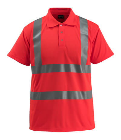 50593-976-222 Polo - Hi-vis rouge