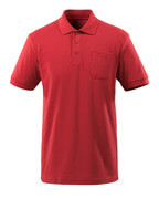 51586-968-02 Polo-Shirt mit Brusttasche - Rot