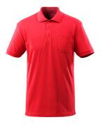 51586-968-202 Polo-Shirt mit Brusttasche - Verkehrsrot