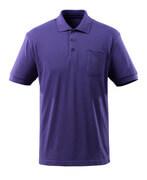 51586-968-95 Polo-Shirt mit Brusttasche - Blauviolett