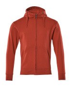 51590-970-02 Sweat capuche zippé - Rouge