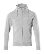 51590-970-08 Sweat capuche zippé - Gris chiné