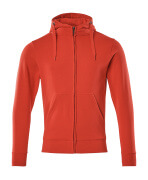 51590-970-202 Sweat capuche zippé - Rouge trafic