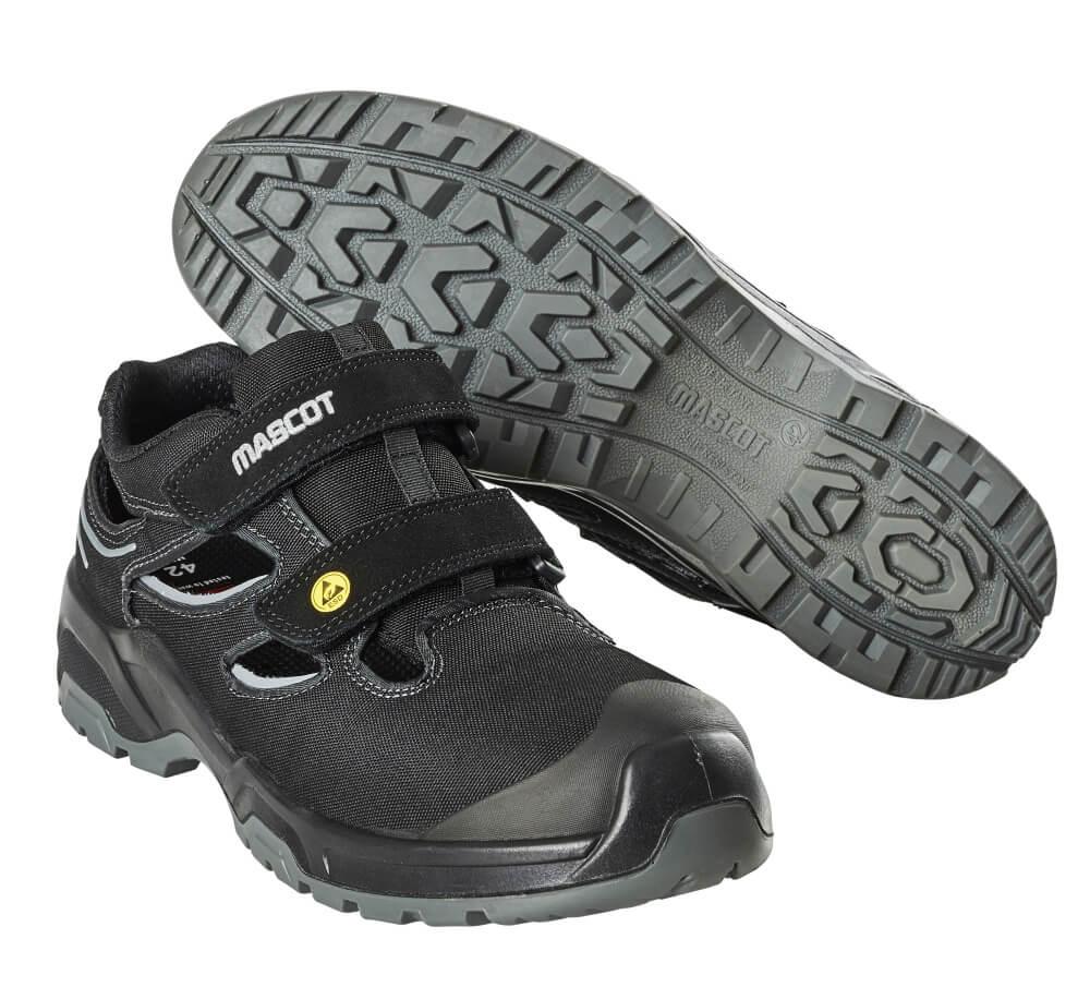 F0100-910-09880 Sandales de sécurité - Noir/Argent