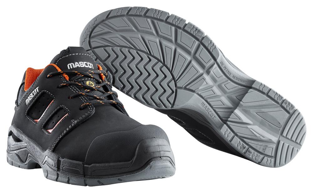 F0115-937-09140 Chaussure de sécurité - Noir/Orange foncé