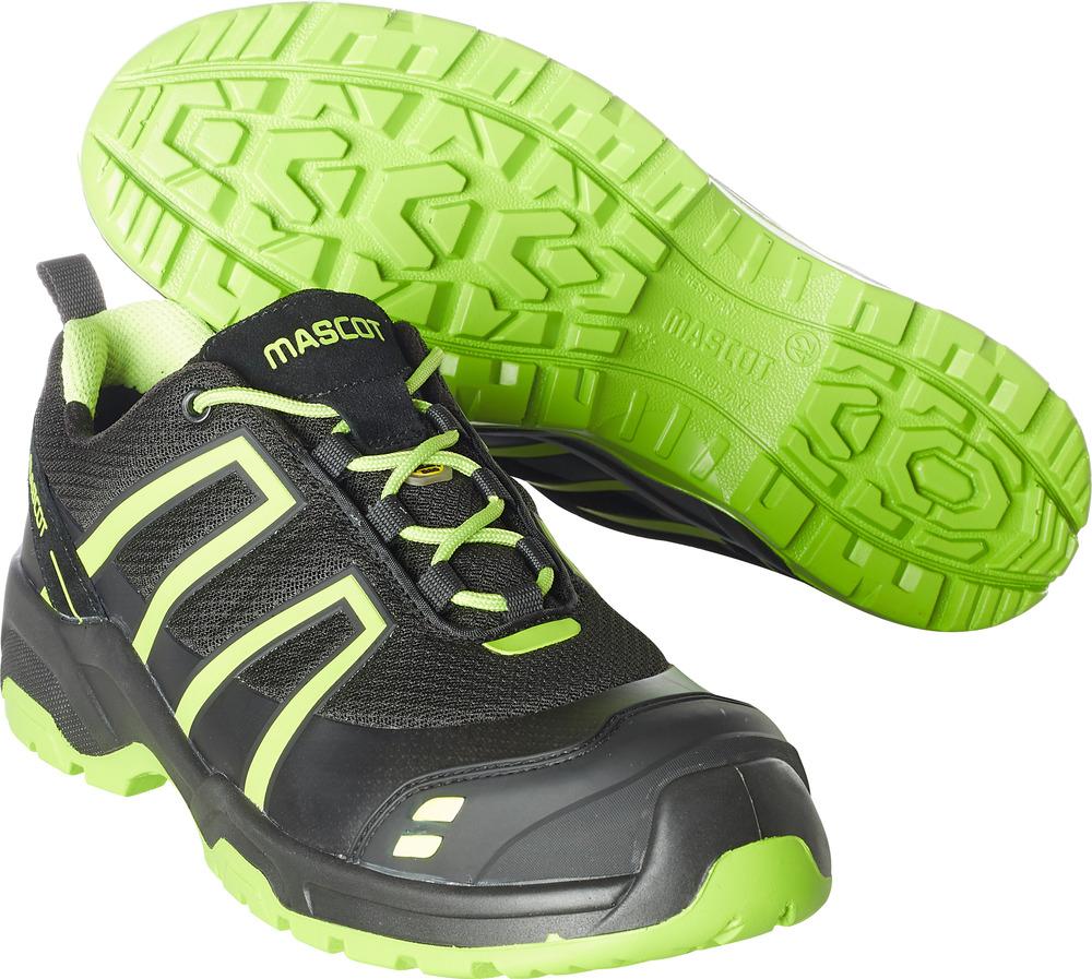 F0124-773-0917 Chaussure de sécurité - Noir/Vert lime