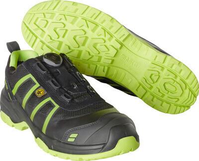 F0125-773-0917 Chaussure de sécurité - Noir/Vert lime