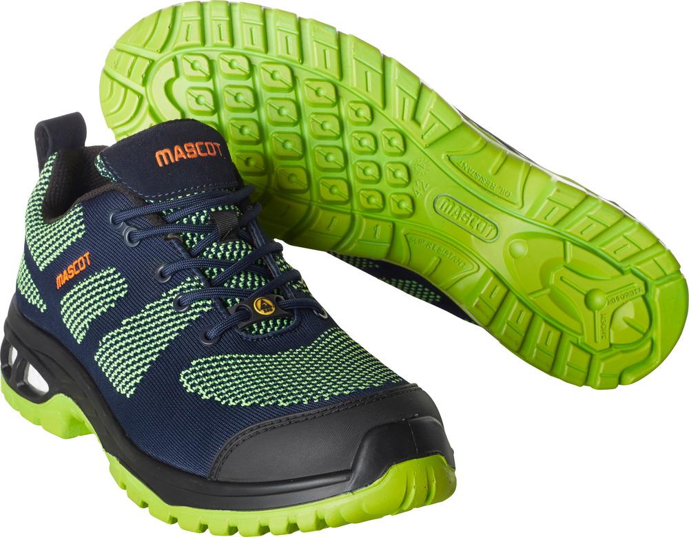 F0131-849-01033 Chaussure de sécurité - Marine foncé/Vert lime