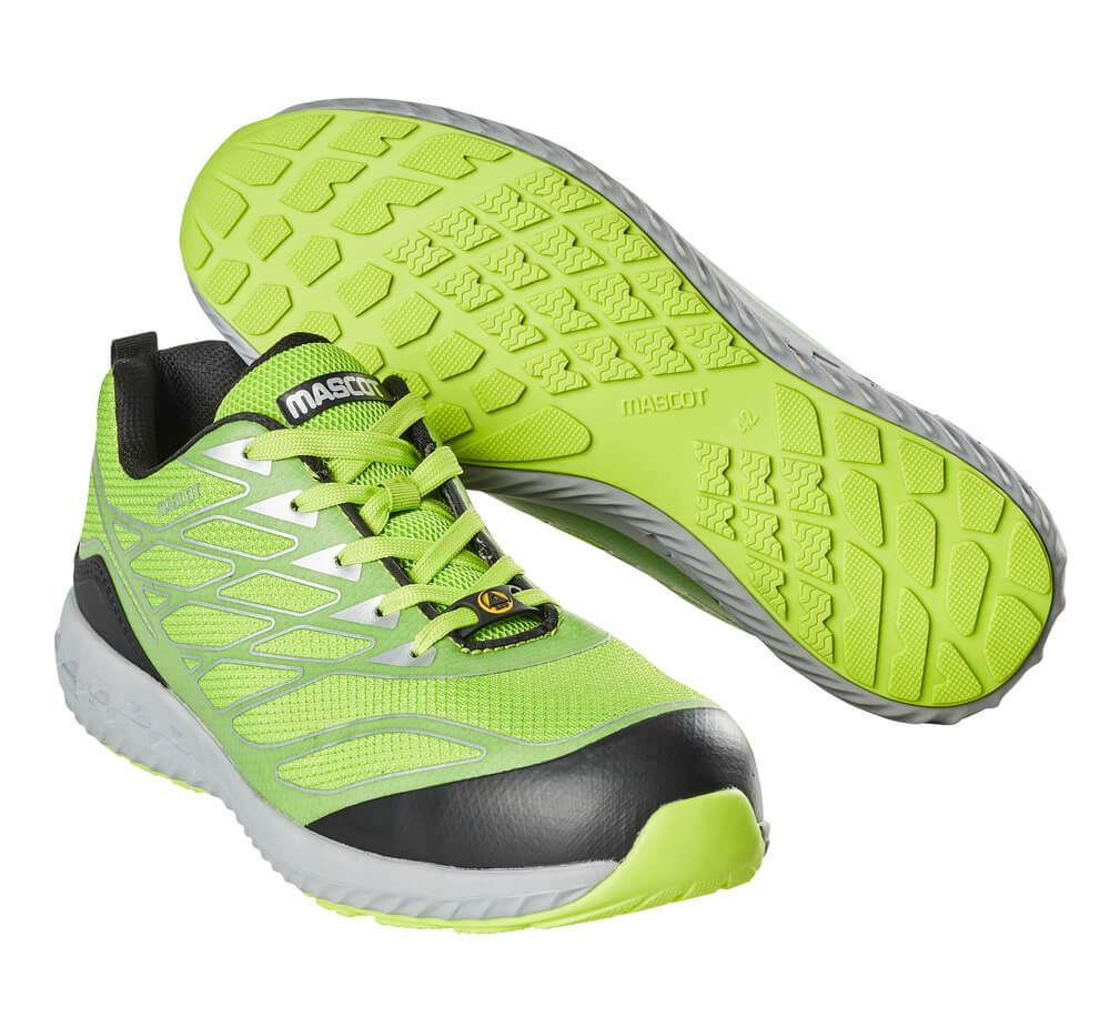 F0301-909-37880 Chaussures de sécurité - Vert lime/argent
